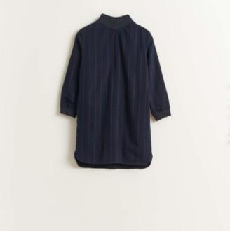 Bellerose Blue High Neck Straight Dress - 12yrs | blue - Blue/Blue