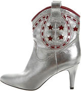Marc Jacobs Metallic Embroidered Ankle Boots