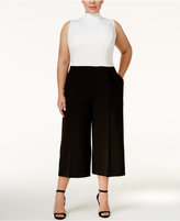 Rachel Roy Trendy Plus Size Colorblocked Jumpsuit