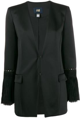 Class Roberto Cavalli fringe-trimmed blazer