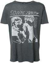 R 13 sonic youth print T-shirt - men - Cotton/Cashmere - L