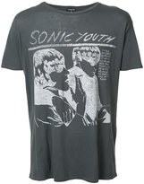 R 13 sonic youth print T-shirt