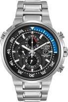Citizen Men's Eco-Drive Silvertone and Blue Endeavor Watch