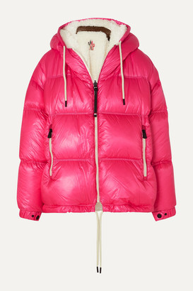 MONCLER GRENOBLE Hufi Reversible Faux Shearling-trimmed Quilted Down Ski Jacket - Pink