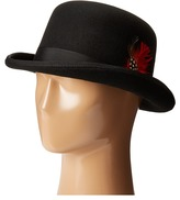 Scala Wool Felt Derby Hat with Grosgrain Trim