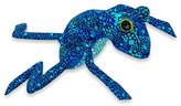 Novica Blue Animal Themed Wood Figurine, 'Blue Oaxaca Frog'