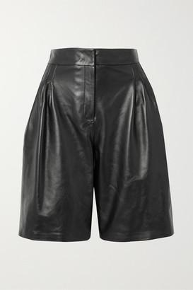 16Arlington Grant Leather Shorts - Black