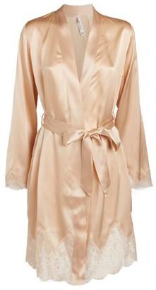 Aubade Lace Trim Short Robe