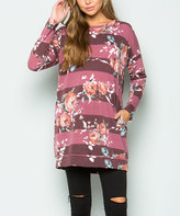 Sweet Pea Burgundy Floral Tunic