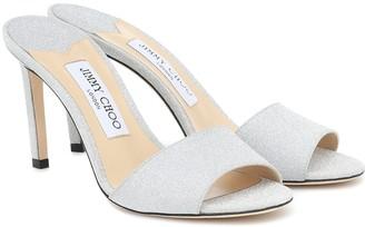 Jimmy Choo Stacey 85 embellished sandals