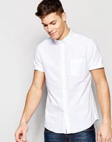Asos Casual Regular Fit Oxford Shirt In White