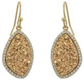 Marcia Moran Gold Druzy Earrings