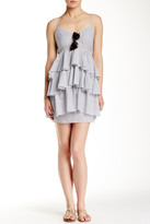 BCBGeneration Tiered V-Neck Stripe Dress