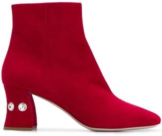 Miu Miu Crystal Embellished Boots