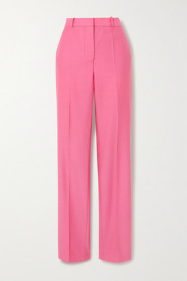 Victoria Victoria Beckham Drainpipe Wool Straight-leg Pants - Pink