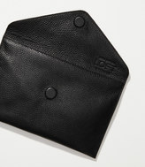 LOFT Luxe Leather Envelope Clutch