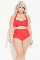 Forever 21 FOREVER 21+ Plus Size Ruched High-Waisted Bikini Bottom