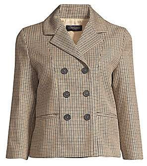 Piazza Sempione Women's Lifestyle Double-Breasted Tweed Jacket