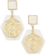 Akola Horn & Coin Statement Earrings