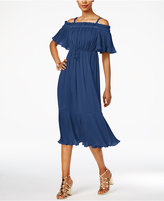 Thalia Sodi Off-The-Shoulder Fit & Flare Dress, Only at Macy's