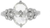 Cathy Waterman Unique Rose Cut Moghul Diamond Oak Leafside Ring