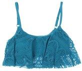 Kenneth Cole Reaction Women's Suns Out Crochet Buns Flounce Bikini Top