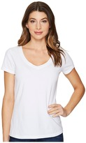 Three Dots Classic V-Neck Women's Clothing