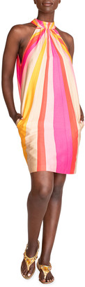 Trina Turk Morgan Striped Halter Dress