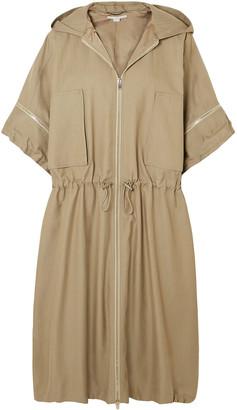 Stella McCartney Hooded Herringbone Cotton-blend Coat