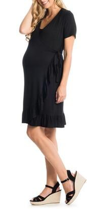 Everly Grey Araceli Maternity/Nursing Wrap Dress