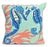 Liora Manné Frontporch Seahorses Indoor and Outdoor Square Pillow