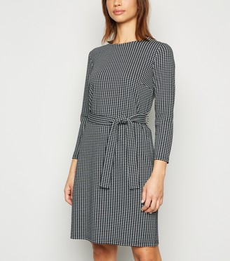 New Look Houndstooth 3/4 Sleeve Tunic Dress