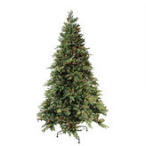 Asstd National Brand 7.5' Pre-Lit Green River Spruce Medium ArtificialChristmas Tree with Clear Lights
