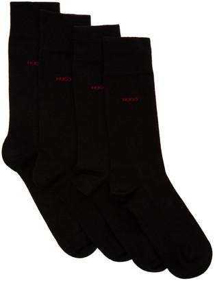 HUGO BOSS Two-Pack Black Logo Socks