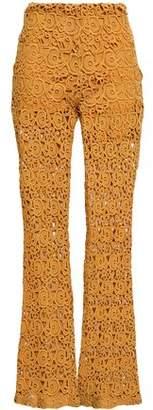 Miguelina Kai Cotton Guipure Lace Flared Pants