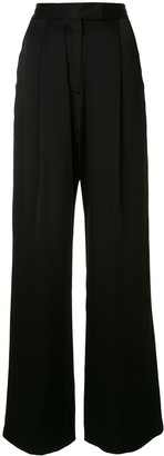 Alex Perry Hartley high-rise wide-leg satin trousers