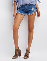Charlotte Russe Machine Jeans Cut-Off Denim Shorts