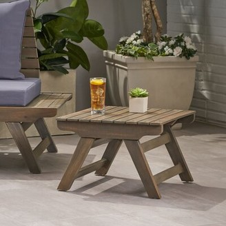 Bullock Outdoor Side Table Longshore Tides Color: Gray