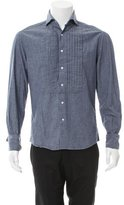 Michael Bastian Pleated Chambray Shirt