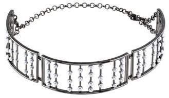 Fallon Faux Pearl Choker Necklace