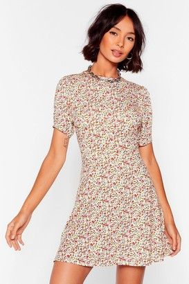 Nasty Gal Womens All We Grow Floral Mini Dress - White