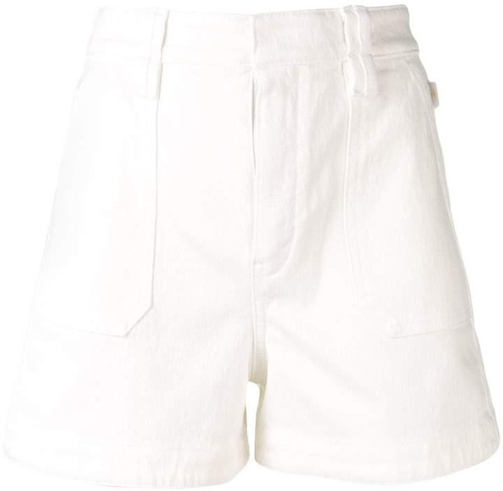 Chloé A-line denim mini shorts