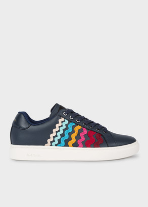 Paul Smith Women's Dark Navy 'Ribbon' Leather 'Lapin' Trainers