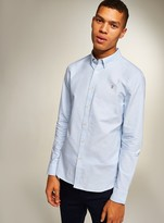 TopmanTopman FARAH Sky Blue 'Brewer' Slim Long Sleeve Shirt*