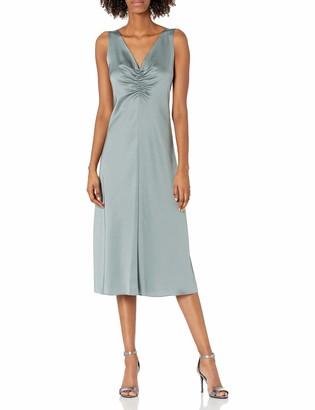 Vince Women's Ruched Double V-Neck Dress