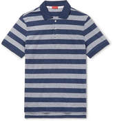Isaia Striped Cotton-Jersey Polo Shirt