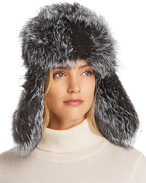 Maximilian Furs Fox Fur Trapper Hat