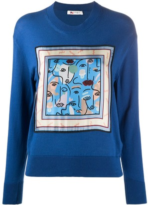Ports 1961 Framed Abstract Face Jumper