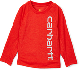 Carhartt Heather Fiery Red Force Logo Tee - Boys