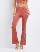 Charlotte Russe Faux Suede Flare Pants